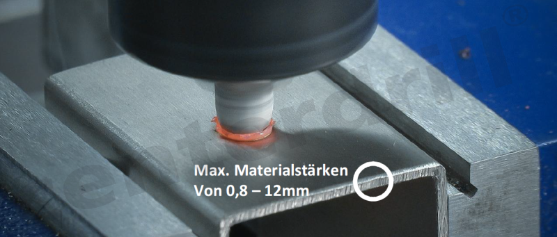 Centerdrill Max. Materialstärken